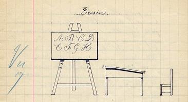 dessin d'élève (collection musée de l'école de bothoa)