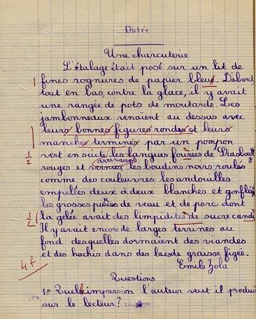 dictée (collection musée de l'école de bothoa)