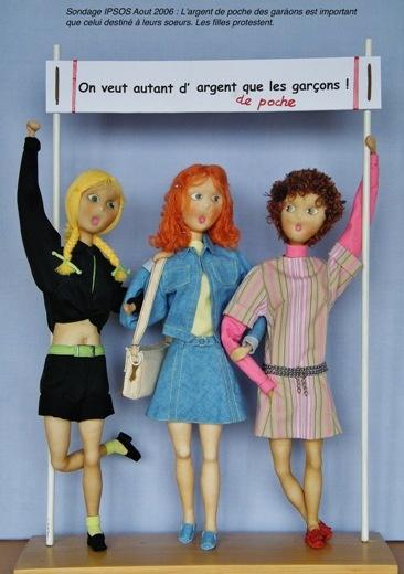 Les filles protestent